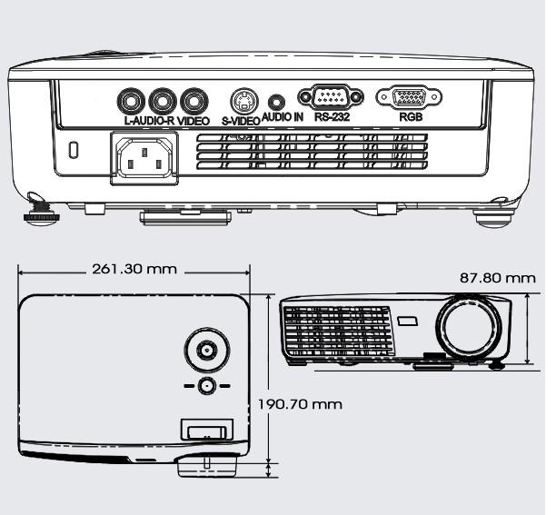 家庭多媒体投影机/720p(短焦); vivitek丽讯 d509 小型空间投影机;